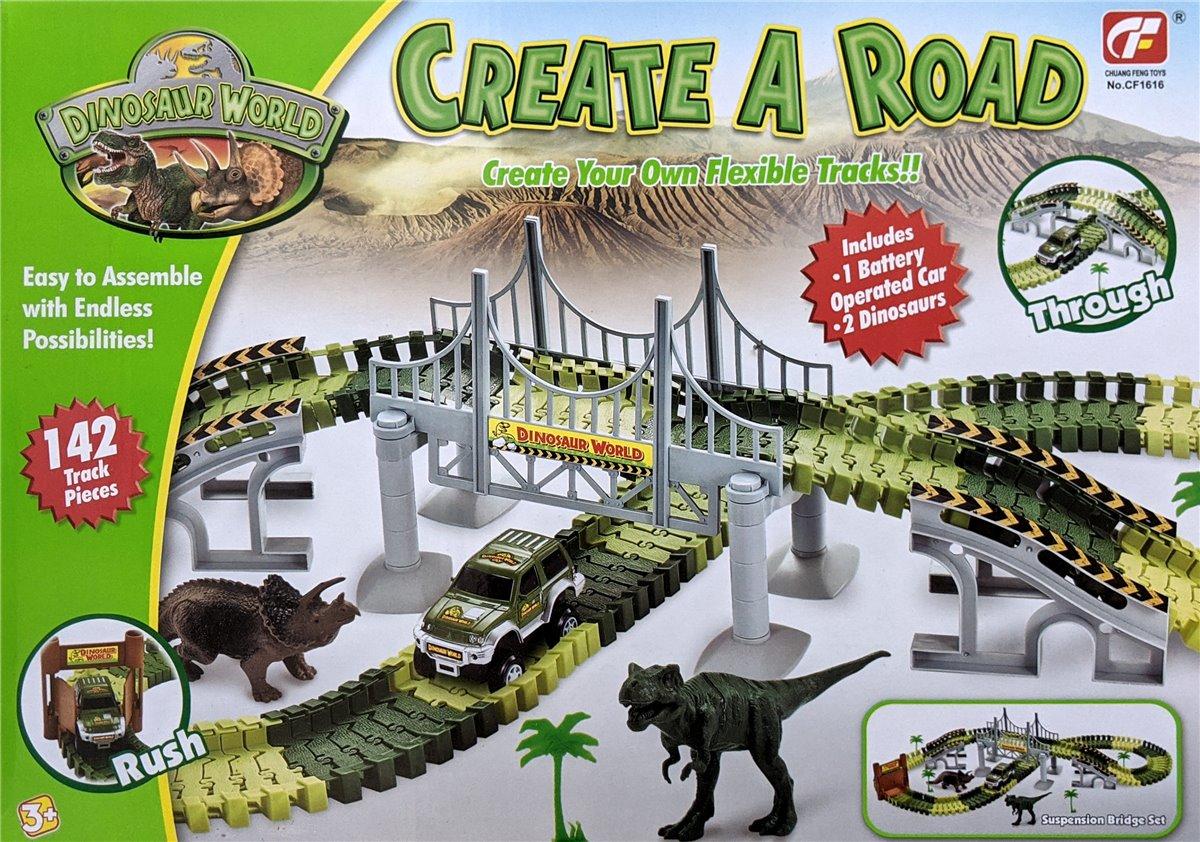 Dinosaurier Spielzeug Flexibel Lntelligenz Anregen Bahn Spiel Set Dinosaurier Cars Rennbahn Kinder Auto Rennstrecken Dinosaurier SHANNA Rennstrecken Spielzeug Verfolgen Sie Spielzeug A